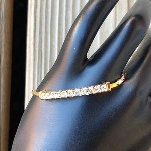 Vintage Dior Rare Gold Plated Tennis Bracelet!